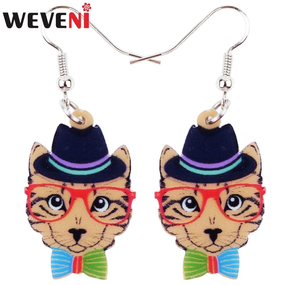 Charming Elegant Cat Dangly Drop Earrings