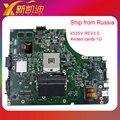 K53SM K53SV материнская плата для Asus X53S A53S K53SJ K53SC P53S K53SV ноутбука материнской платы 4 памяти mainboard rev 3.0 GT520M 2 ГБ 100%