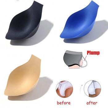 Verbesserung Tasse Gepolsterte Herren Unterwäsche Sexy Herren Ausbuchtung Enhancer Tasse Insert Magische Verbesserung Männer Unterwäsche Abnehmbare Push-Up Tasse