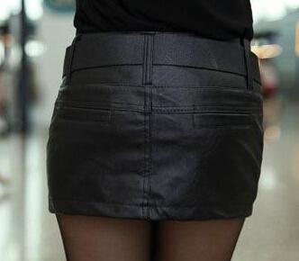 Leather PU Short Skirt Plus Size XXL