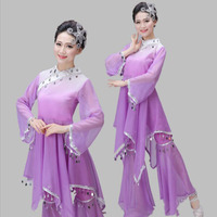 紫スパンコール新しいデザインyangko服モ