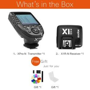 Image 2 - Godox xpro n i ttl 2.4グラムワイヤレス高速同期 × システムトリガー + godox X1R N受信機ニコンカメラ