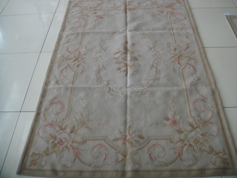 Doprava zdarma 4'X6 'Francouzský vlněný koberec Aubusson ručně vyráběné 100% novozélandské vlněné koberce a koberce pro bytové dekorace