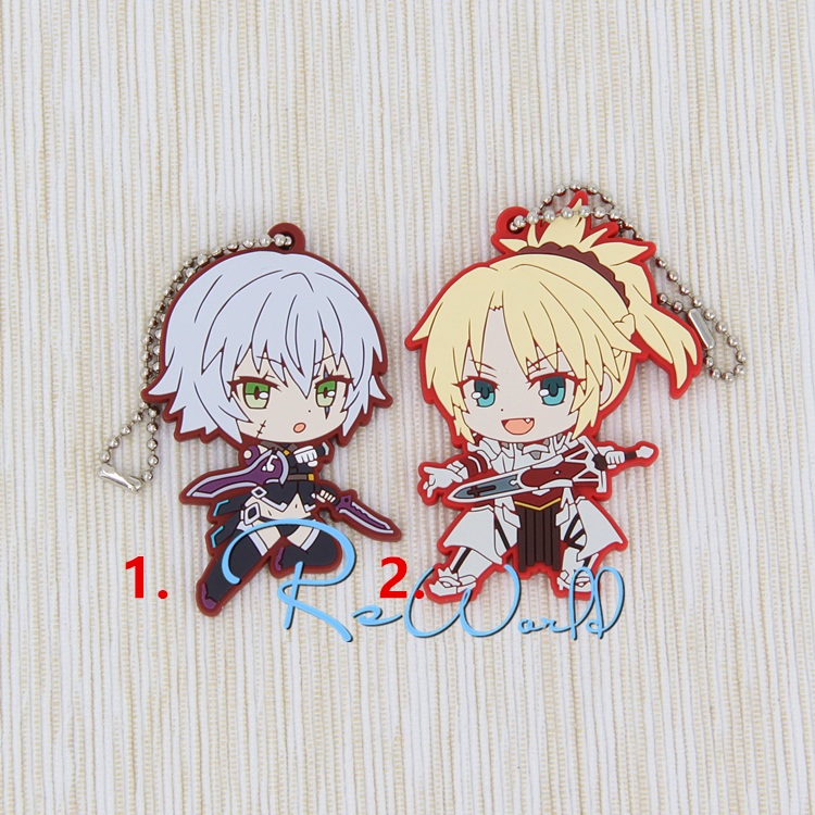 Fate/Grand Order Fate/Apocrypha Anime Jack the Ripper Assassin Mordred Saber Fate Apocrypha Rubber Keychain le fate топ