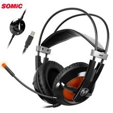 Somic G938 USB Виртуальный 7,1 стерео проводные Игровые наушники с микрофоном игровая гарнитура за ухо для ноутбука компьютера геймера