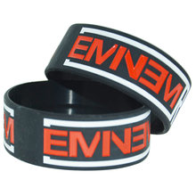 1 piece EMINEM The Marshall Mathers LP 2 Rapgod Preto Cor de Silicone Pulseira Pulseira(China)