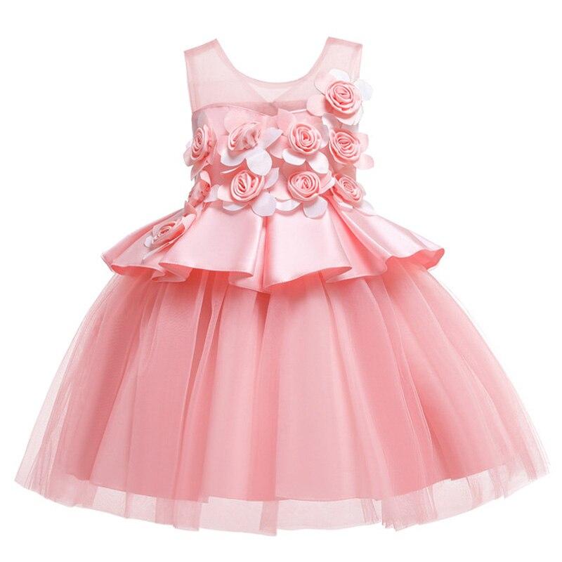 HTB1B7V5RzDpK1RjSZFrq6y78VXaj Kids Dresses For Girls Elegant Princess Dress Christmas Children Evening Party Dress Flower Girl Wedding Gown vestido infantil