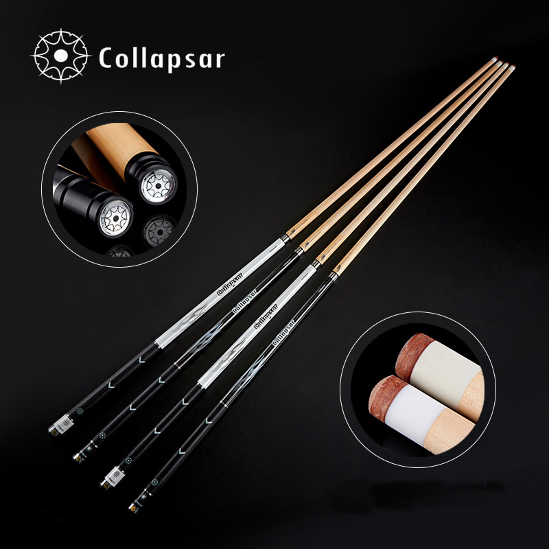 Collapsar R04 R05 Billiard Pool Cue Stick 2PC 58Inch Maple Wood Shaft Black White Cue 11 5mm 13mm Tip China in Snooker Billiard Cues from Sports Entertainment