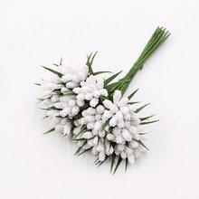 Buquê de flores artificiais de espuma, 12 peças, buquê para decoração de festa de casamento, pom, flores artificiais, simulação de plantas