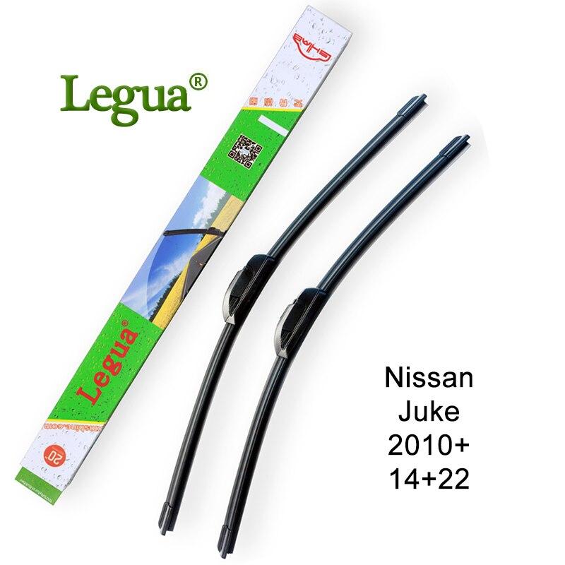 Legua car windscreen wiper blade for Nissan Juke,2010+,14+22,car wiper rubber,Frameless Bracketless windshield wiper