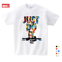 все цены на Boys/Girls Birthday Print Cotton T Shirt Boys Cartoon Funny Casual T-shirt Children Summer Short Sleeve Baby T-shirt 3-15 Years