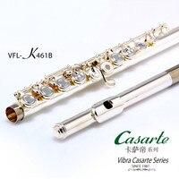 Высокое качество Профессиональный Тон C 17 отверстия Открыть Vibra VFL 461B Флейта посеребренные профессиональных концерт инструмент с корпусом e