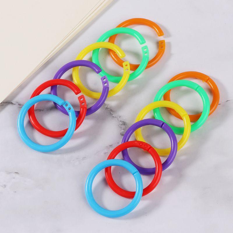 20x Creative Plastic Circle Multi-Functional Loose Leaf Ring Binder Hoop For DIY Photo Scrapbook Album Book Office