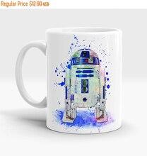 Día de san valentín Venta Star Wars R2D2 mugen Tazas de café tazas de Té de cerámica de porcelana calcomanía home kitchen leche