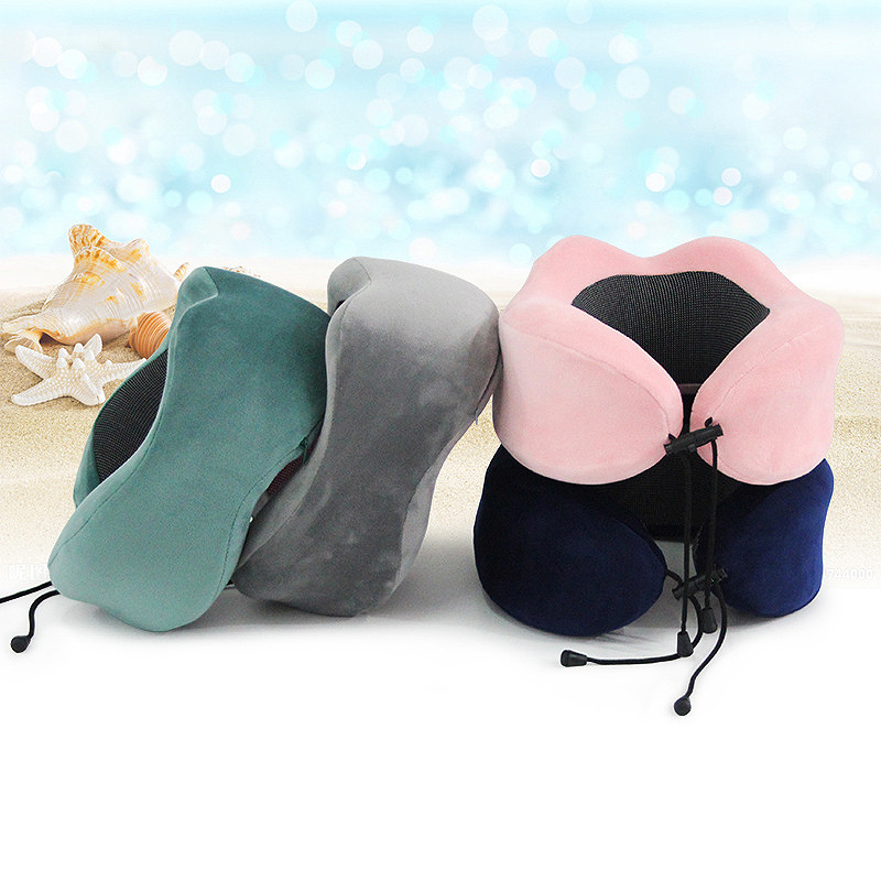 new adjustable magnet therapy travel Pillow Neck Massage memory foam u shaped hump car airplane plane Sleep pillows nap cushion in Travel Pillows from Home Garden