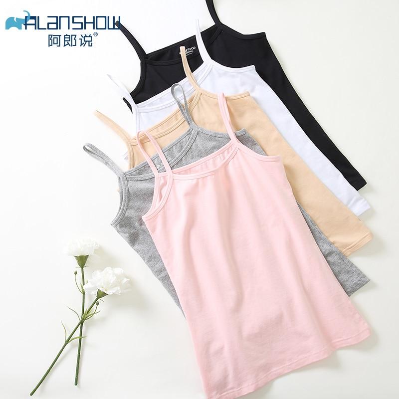 ALANSHOW Women 3pcs/lot Ladies Tank Tops For Women Combed Cotton Camisoles & Tank Women Vest Female Vest For Girls Free Shipping