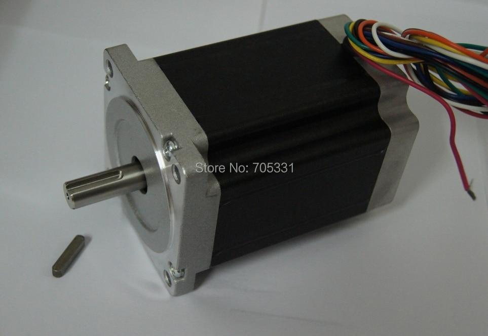 8-lead Nema34 Hybrid stepper motor 118mm/ 4.2A/ 1215oz-in (8.5N.m) for engraving milling machine 1 pc single shaft of nema34 stepper motor 1215oz in 4 2a 118mm 8 leads bipolar connection for engraving milling machine