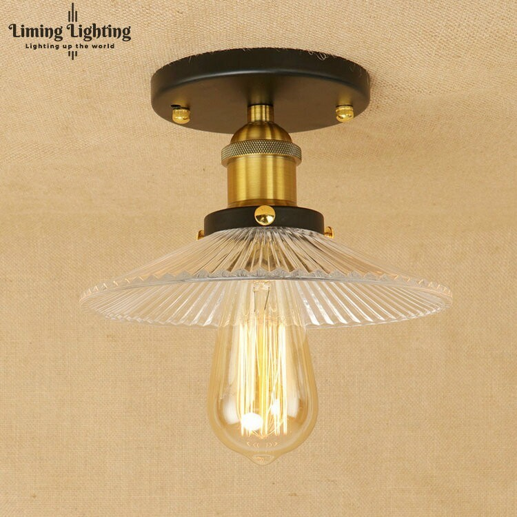 Vintage Ceiling Lights Lamps Retro Glass Living Room Bedroom Luminaria De Teto E27 Modern Ceiling Lamp Home Lighting Fixtures american vintage glass ceiling lights lamps living room bedroom luminaria de teto e27 modern ceiling lamp home lighting fixtures