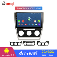 4G Lte All Netcom 10.1 inch android 8.0 for Skoda octavia 2007 2014 full touch car dvd multimedia gps navigation system