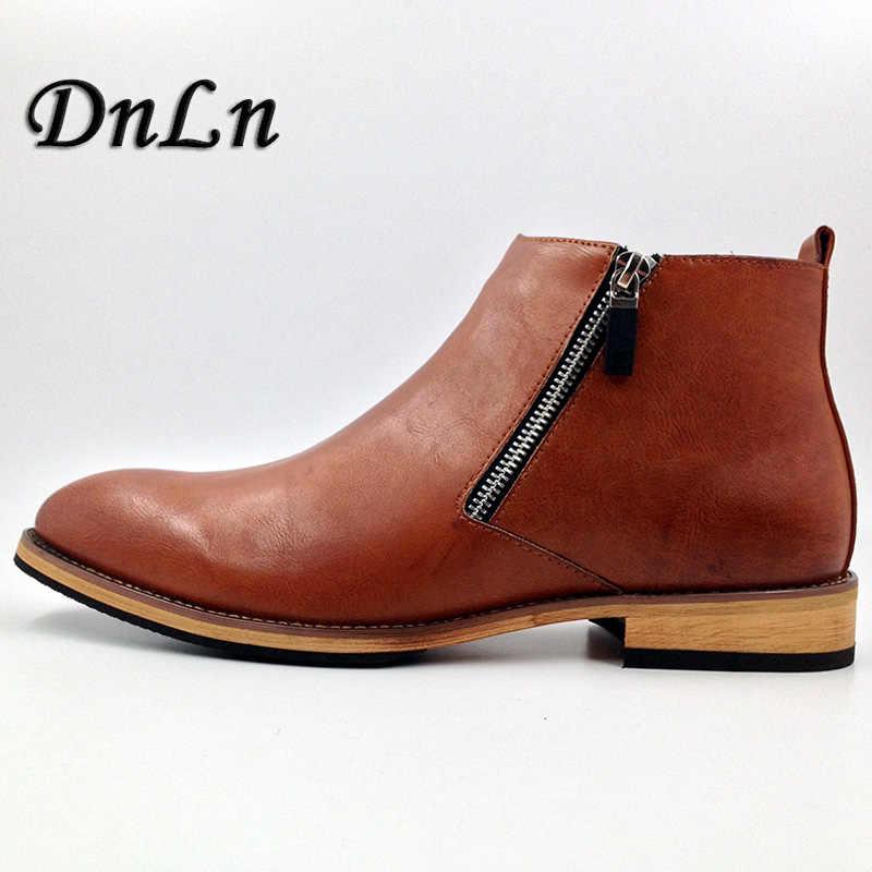 05b58ef154c Men Boots 2018 Fashion Men Ankle Boots Winter Autumn Casual Men Genuine  Leather Boots Man Shoes ND50
