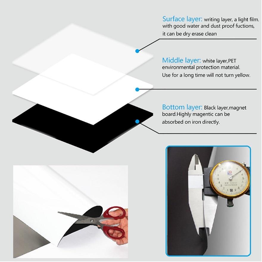 Image 4 - Smart Board Vinyl Fridge Magnet Whiteboard Magnetic Magnets Office Memo Pad Home Planner Writing Board Organiser Notepad Marker-in Fridge Magnets from Home & Garden