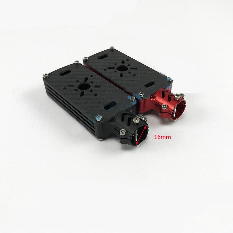 1 PCS CNC En Aluminium Motor Mount Base de Support De support pour 16mm Tube En Fiber De Carbone pour Quadcopter Hexacopter Multicoper RC Drone Pièces