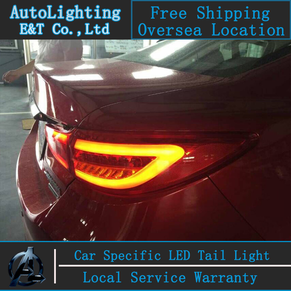 Car Styling New for Mazda6 taillight assembly 2014-2015 for Mazda 6 LED Tail Lamp Atenza rear trunk lamp cover light with 4pcs. car rear trunk security shield cargo cover for volkswagen vw tiguan 2016 2017 2018 high qualit black beige auto accessories