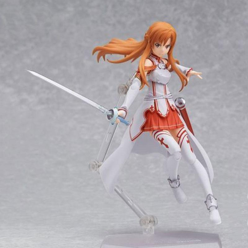 SAO Sword Art Online Asuna PVC Anime Action Figure Collection Toy 15cm sao sword art online vignette figure classic ver asuna furyu birthday gift