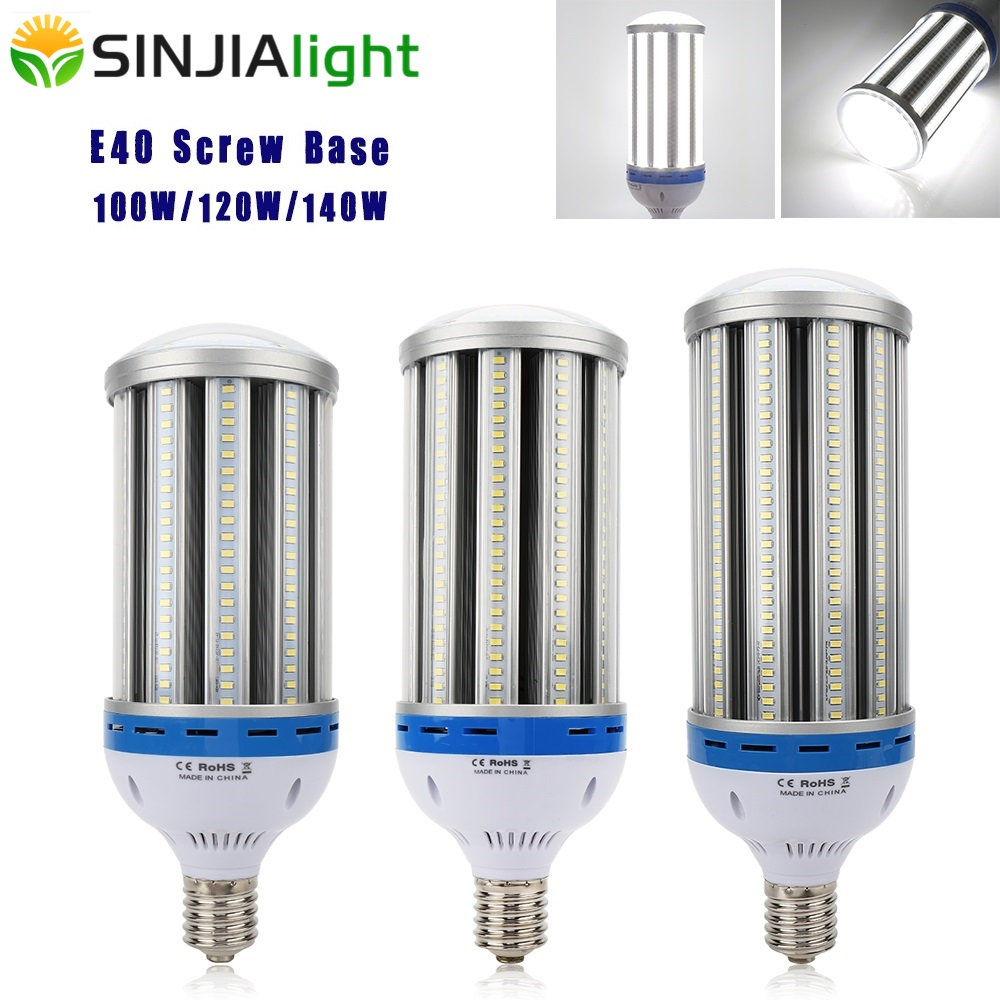 E40 LED lumière de maïs 100 W 120 W 140 W projecteur lampe à LED Lampada LED ampoule Luminaire éclairage extérieur pour entrepôt usine AC85-265V