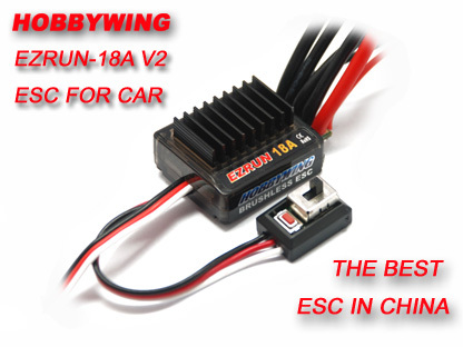 F17805 Hobbywing EZRUN 18A V2  2-3S Lipo Speed Controller Brushless ESC BEC Output 6V/1.5A  for 1/16 1/18 RC Car trust 17805 xstream breeze