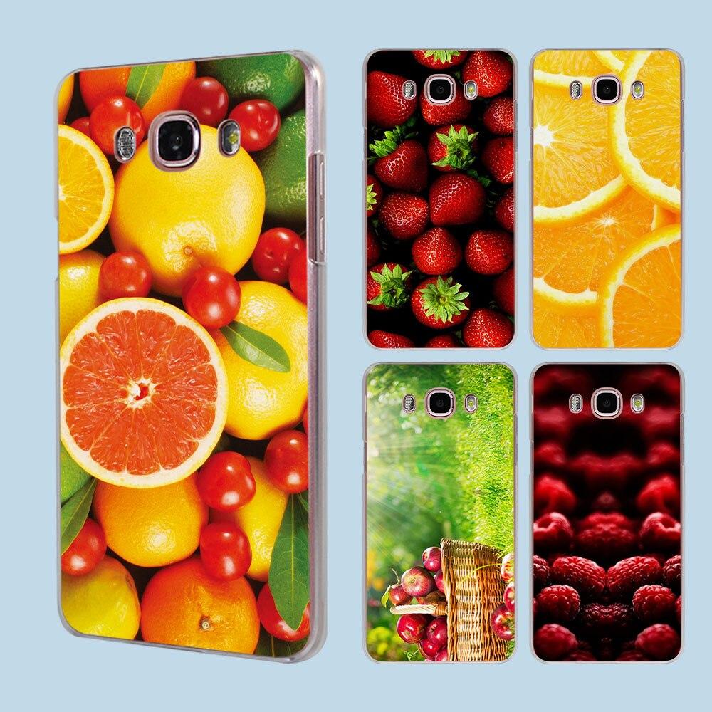 Funny Summer Fresh Fruit transparent clear hard case cover for Samsung Galaxy J1 J2 J3 J5 J7Prime J7 J510 J710 2016