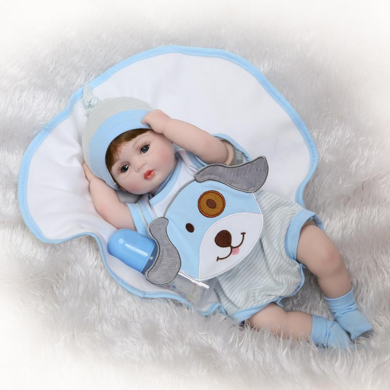 Hot Sale reborn Baby Doll Wholesale Baby Dolls soft touch with cloth body gifts for children on Birthday free shipping