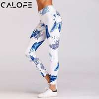 2018 Sexy Hot Yoga Pants Floral Printed Sport Leggings High Waist Fitness Gym Women Training Pants