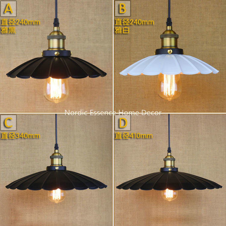 American LOFT industrial wind lotus leaf umbrella Nordic Creative Arts Cafe restaurant shop hotel chandeliers lighting lamp