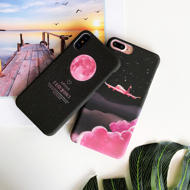 KIP7P1253C_2_JONSNOW Phone Case For iPhone 6 6S 7 8 Plus Earth Planet Starry Sky Patterns PC Hard Case for iPhone X XR XS Max Back Cover Capa Fundas