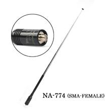 NA-774 SMA-FEMALE Handheld Foldable Telescopic Antenna Walkie talkie 10W Antenna for Baofeng Radio