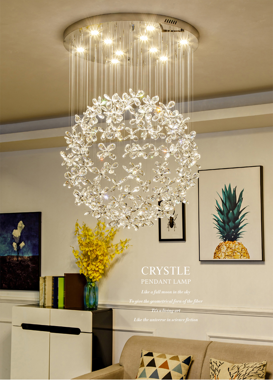 Modern Luxury Crystal Led Ceiling Chandelier For Living Room Large Butterfly Light Fixtures Home Design Crystal Lamps Chandeliers Aliexpress