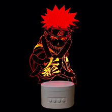 Naruto 3d Lamp Usb Led Light Night Lamp with Bluetoth speaker for music
