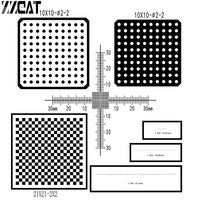 977Large Calibration Slides Target Micrometer Microscope Calibration Measure Checkerboard Grid Net Dot Reticle Scale Cross Ruler