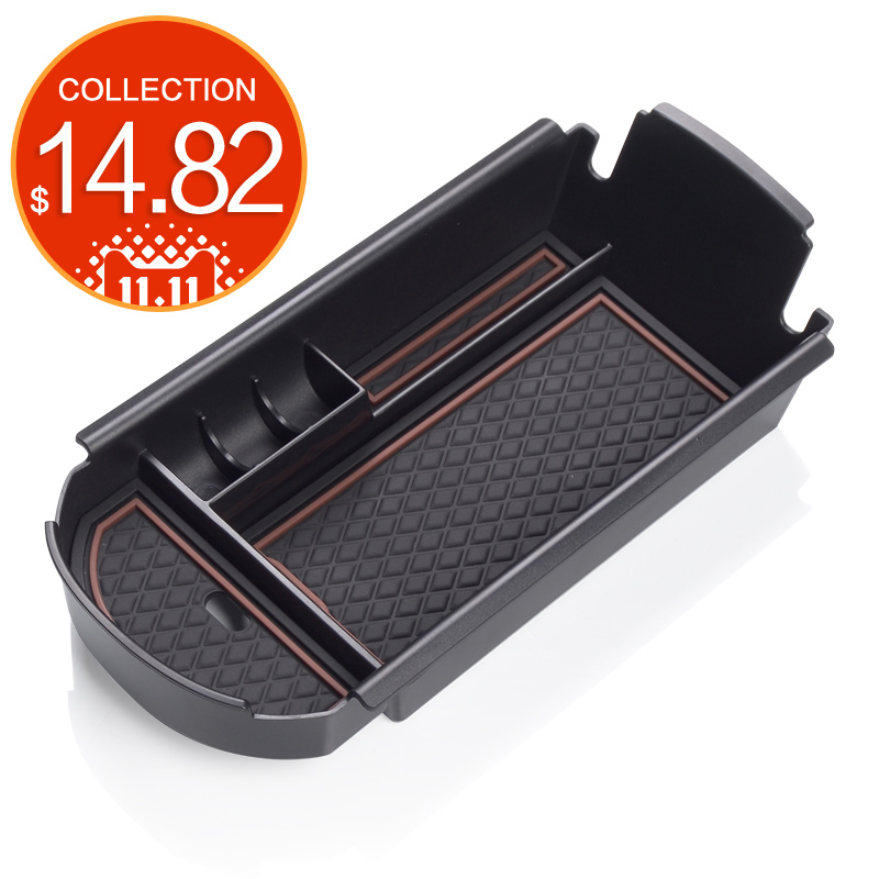 For TOYOTA C-HR 2016 2017 Car Central Armrest Box storage box  Interior Accessories Stowing Tidying  black VIP A modified style free punch car armrest console box 9 functions with usb hidden cup seat no drilling car central box