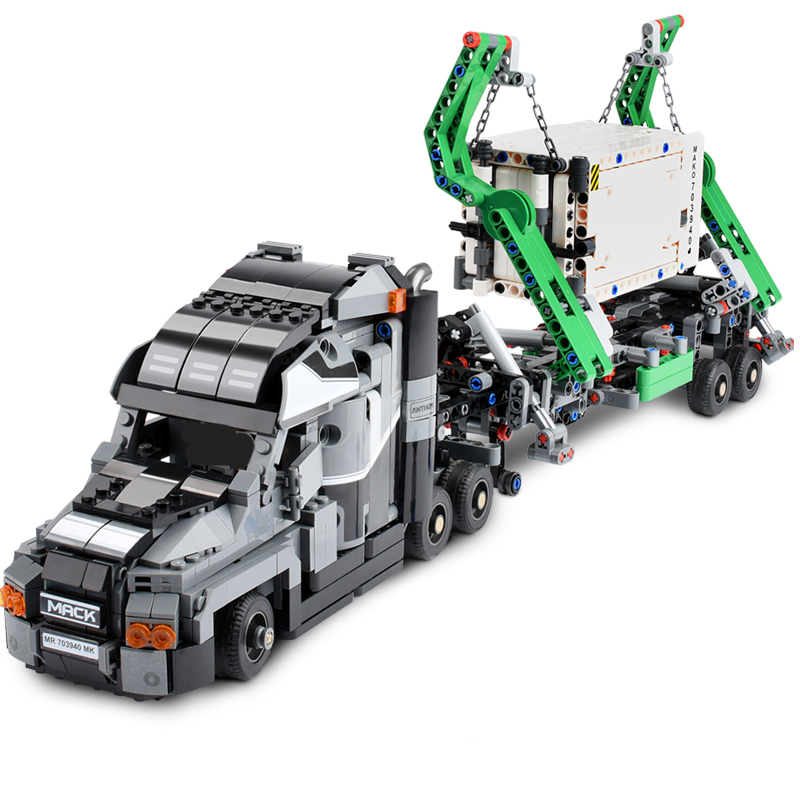 1202+PCS Container Truck Model Block Vehicles Car Building Blocks Technic Car DIY Bricks Educational Toys for Children Gift-in Blocks from Toys & Hobbies    2