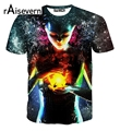 Raisevern Мода 3D футболки Печатаются Серьезные Поднятие Транс С Коротким рукавом Galaxy 3d T Рубашка Круглым Воротом Летние Топы Плюс Размер