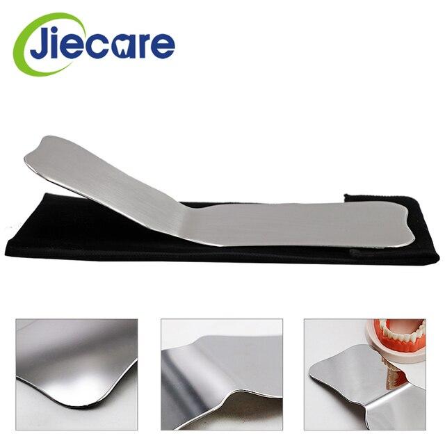 Espejos de fotografía de acero inoxidable para dentistas, Reflector de ortodoncia Intra Oral de doble cara, lavable con autoclave, 1 unidad