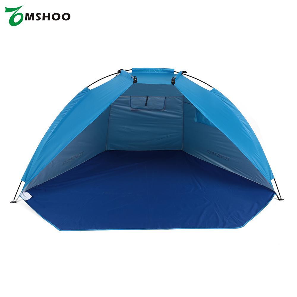 TOMSHOO пляжные Палатки Сверхлегкий Палатка один Слои палатка Защита от солнца приюты Тенты Рыбалка палатка для пикника Пеший Туризм с мешком