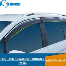 Pala janela para Volkswagen VW Touran 2016-2018 L janela lateral deflectores guardas de chuva para VW Touran L 2016 -2018 SUNZ