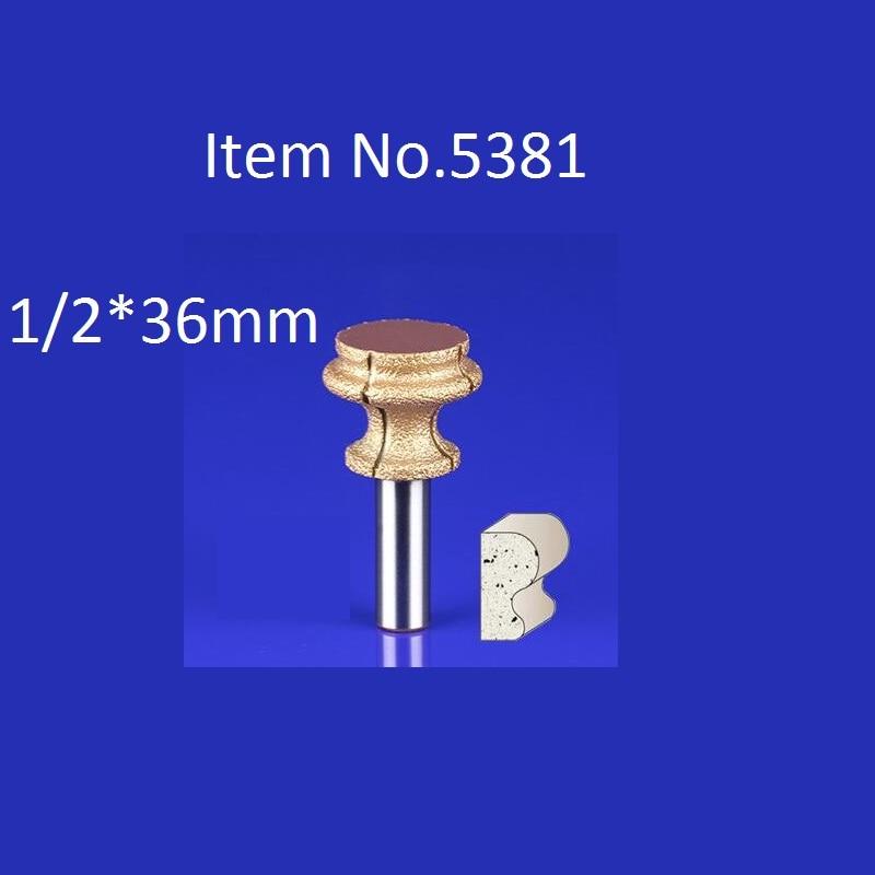 1PC 1 2 36mm CNC Engraving Bits Diamond Sand Diamond End Milling Cutter On Cutting Trimming