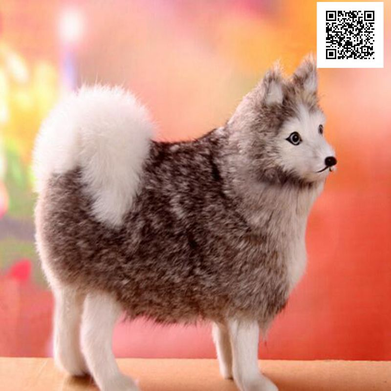 16*6cm Gray Simulation Animal Plush dog stuffed игрушка ecx ruckus gray blue ecx00013t1