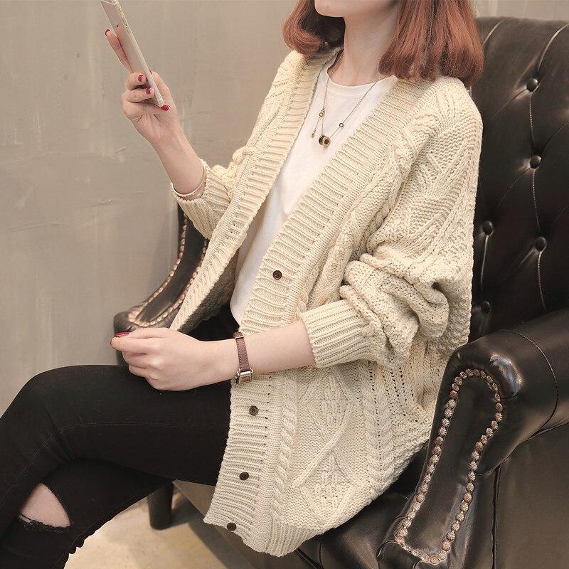 2018 Spring New Pattern Cardigan Woman Casual long sleeve sweater loose style casaco feminino