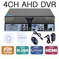 4 canales CCTV seguridad AHD Video Recorder DVR 4ch 720 P H.264 HDMI P2P DVR para AHD cámaras cámaras analógicas