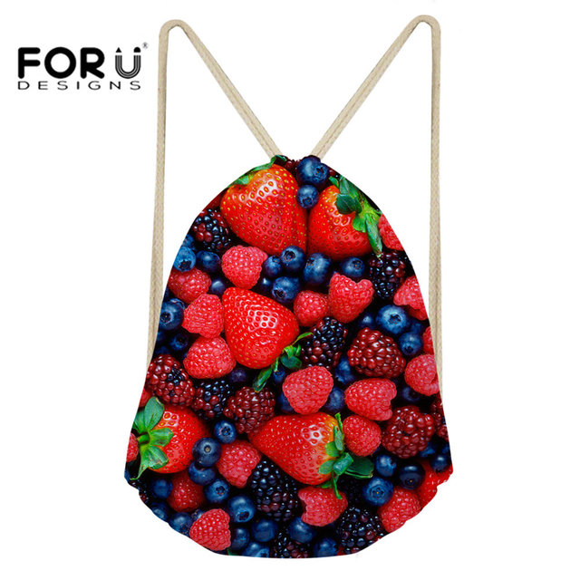7c1ac63d9f FORUDESIGNS Sport Bag Drawstring Bag Small for Women Fitness and Training  Yoga Outdoor Bright Flower Pattern Dance Bag Beach Bag